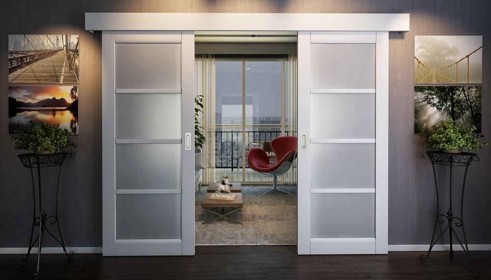 Пример раздвижных дверей.